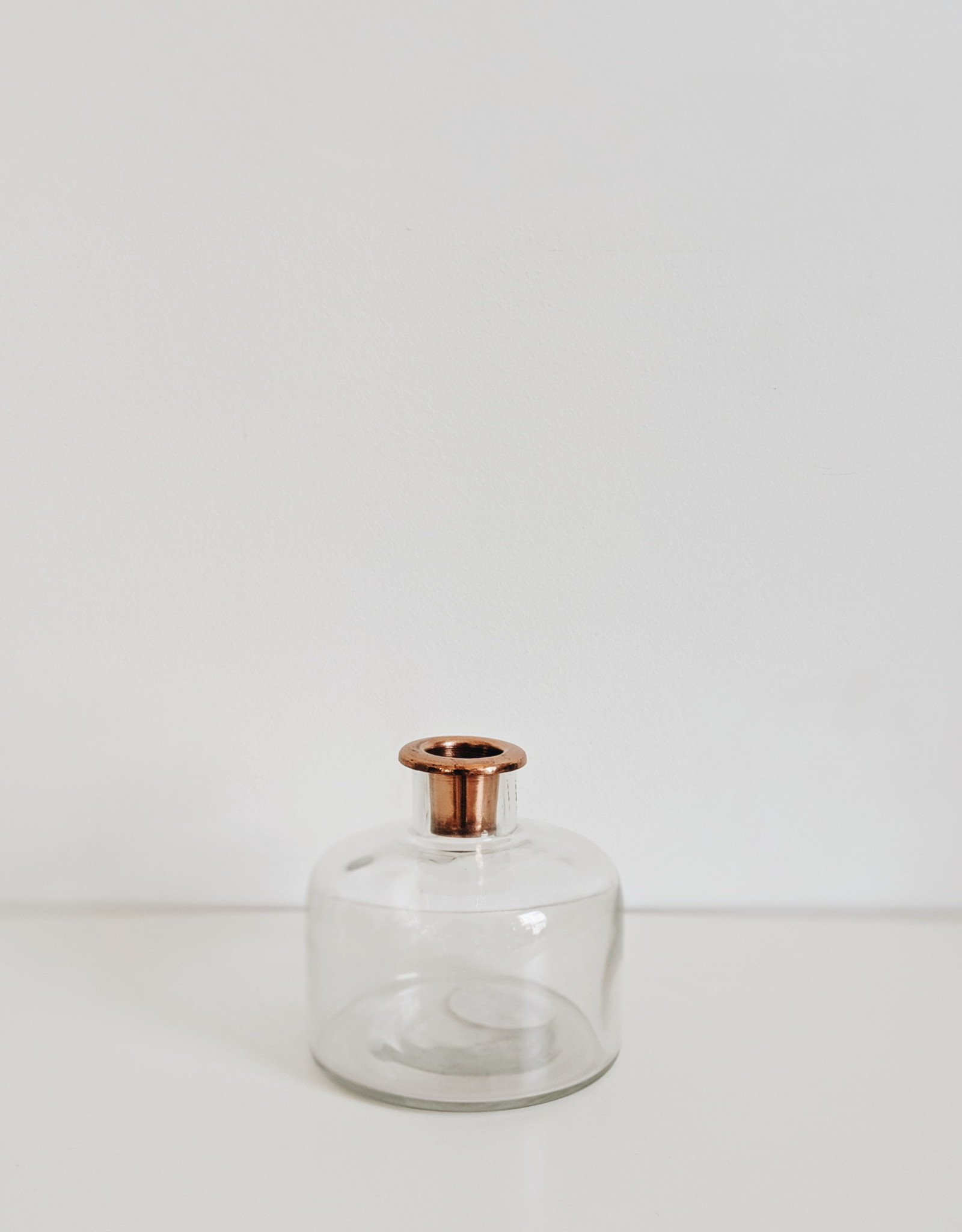 Glass Bottle Taper Holder - Copper Finish