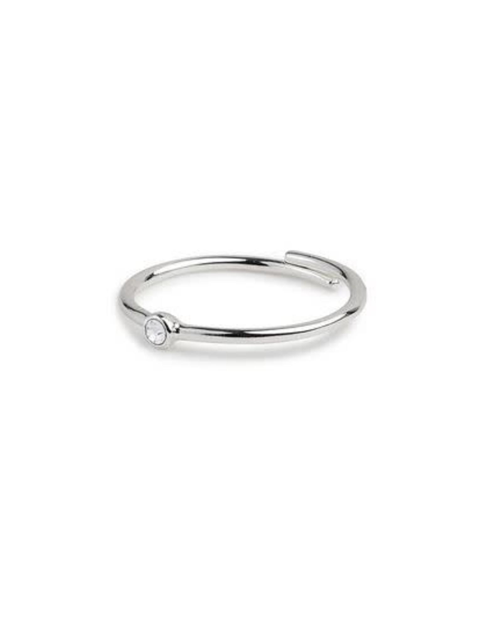 Pilgrim Ring Lulu Crystal Adjustable - Silver