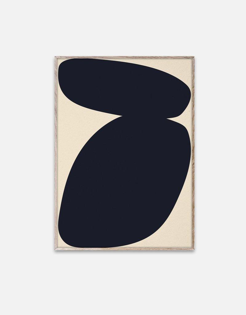 Paper Collective Nina Bruun - Affiche Solid Shapes 03 - 30cmx40cm