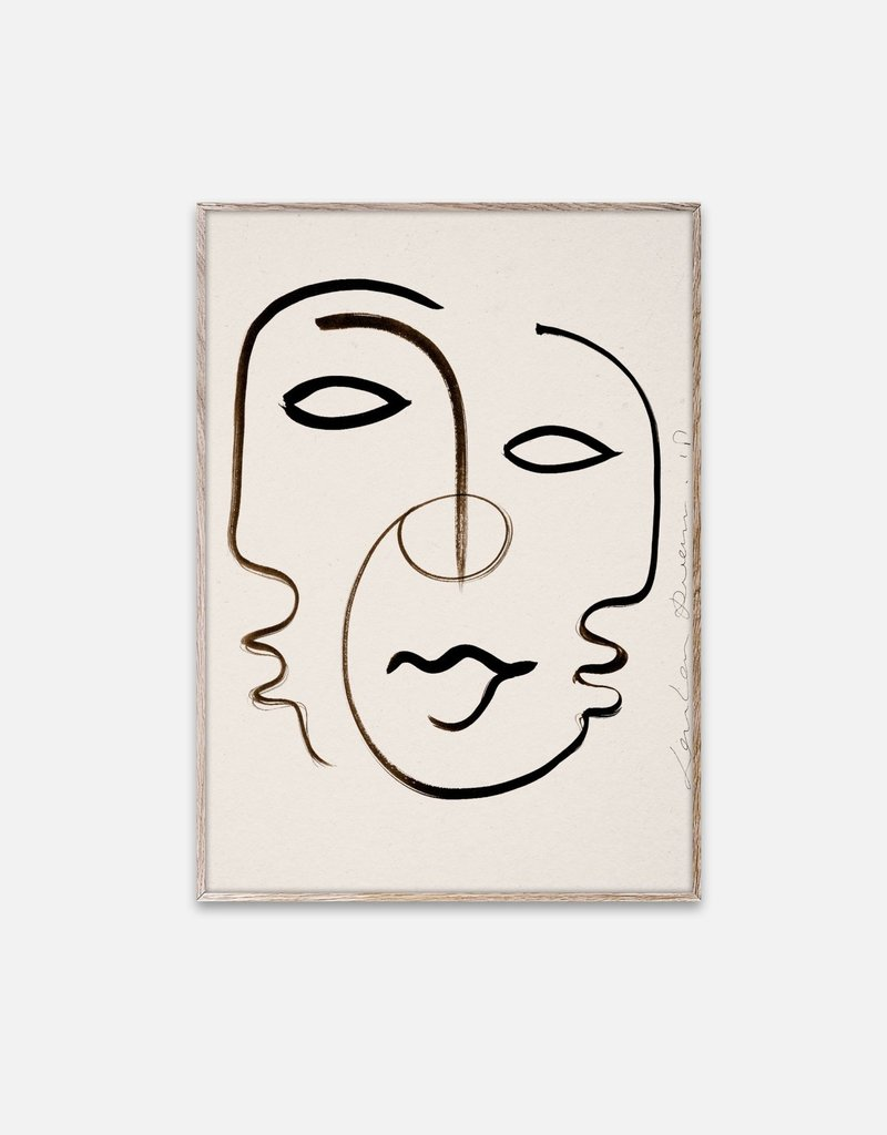 Paper Collective Loulou Avenue - Affiche We Are One - 30 cm x 40 cm