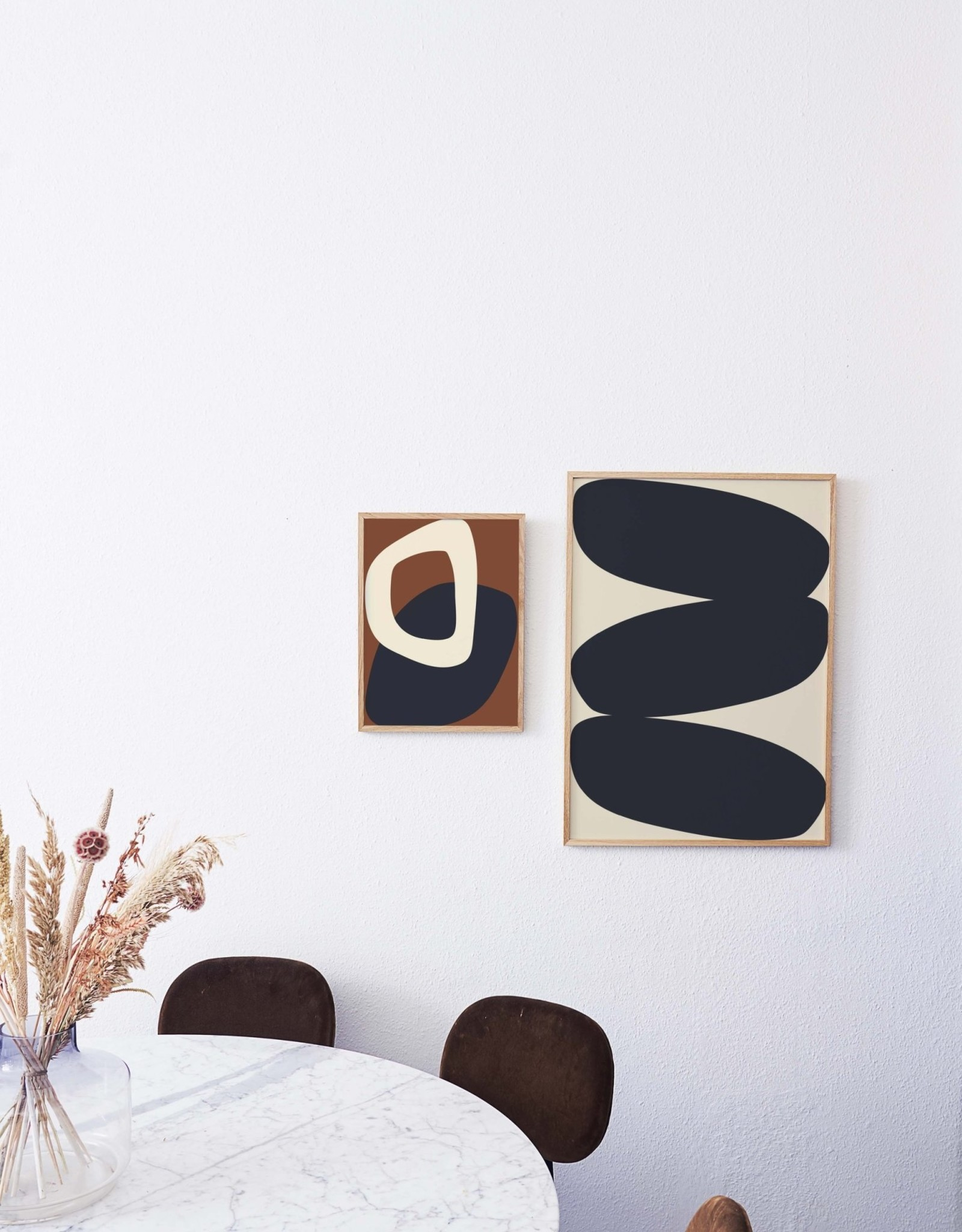 Paper Collective Nina Bruun - Affiche Solid Shapes 02 - 30cmx40cm