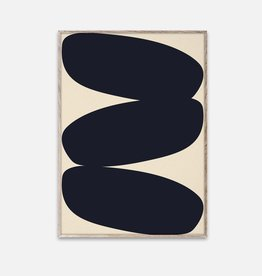 Paper Collective Nina Bruun - Affiche Solid Shapes 01 - 50cmx70cm