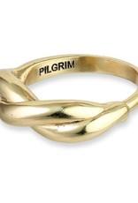 Pilgrim Bague Ajustable Skuld - Plaqué Or