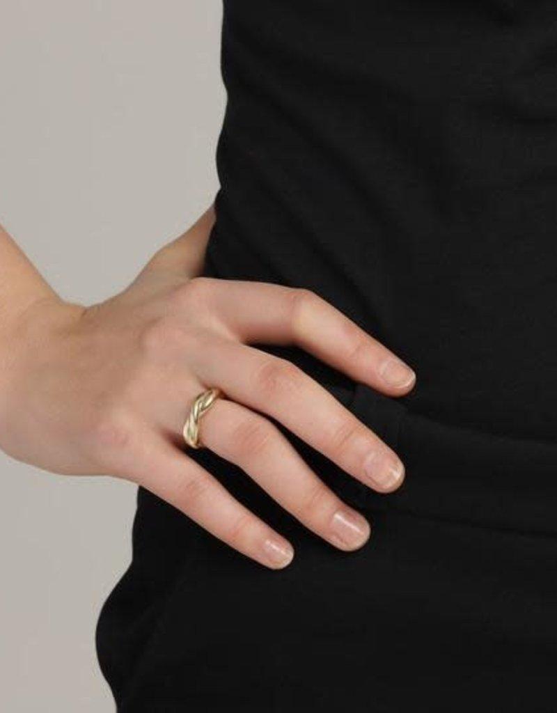 Pilgrim Skuld Adjustable Ring - Gold Plated