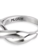 Pilgrim Skuld Adjustable Ring - Silver Plated
