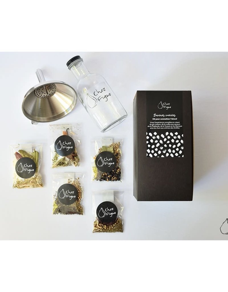 Chez Figue Kit for flavoring alcohol Various flavors