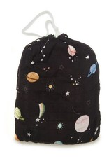 Loulou Lollipop Muslin Fitted Cribsheets - Planets