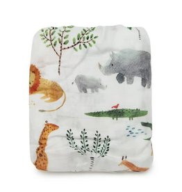 Loulou Lollipop Muslin Fitted Cribsheets - Safari Jungle