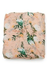 Loulou Lollipop Fitted Crib Sheet - Blushing Protea