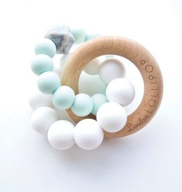 Loulou Lollipop Trinity Silicone and Wood Teether - Minth