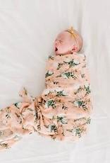 Loulou Lollipop Muslin Swaddle - Blushing Protea