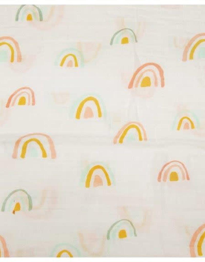 Loulou Lollipop Muslin Swaddle - Rainbow