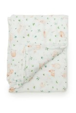 Loulou Lollipop Muslin Swaddle - Bunny Meadow