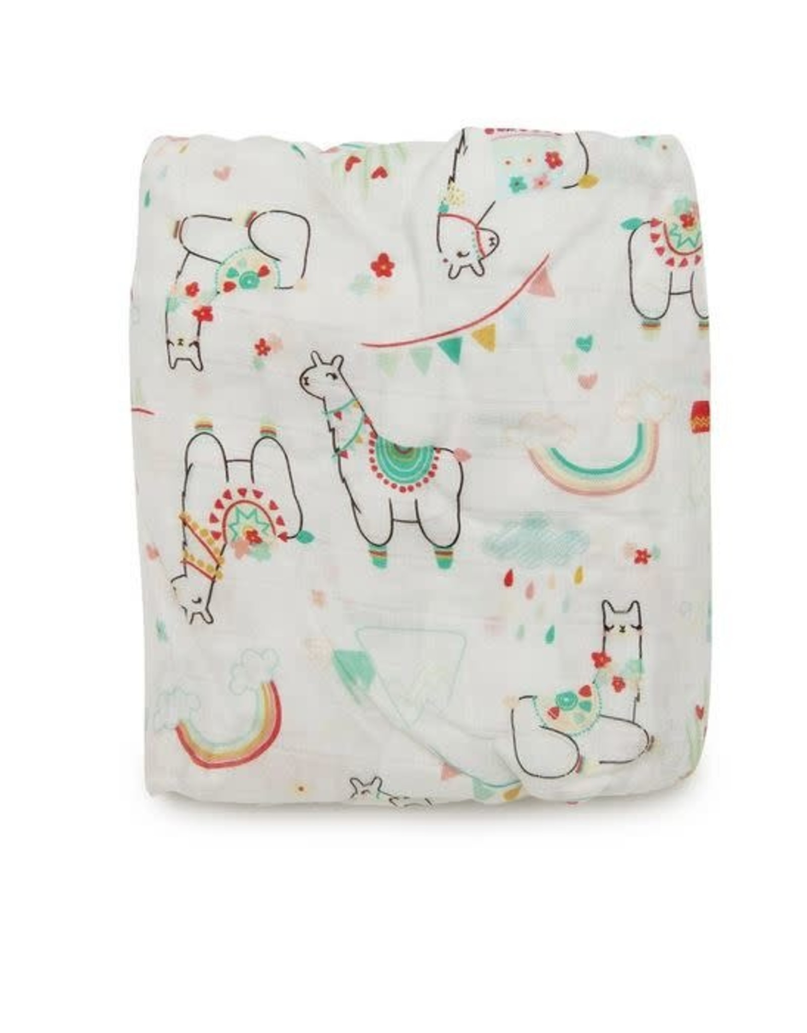 Loulou Lollipop Fitted Crib Sheet - Llama