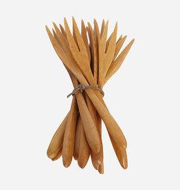 House Doctor Fourchettes Medium en Bambou - Boîte de 12
