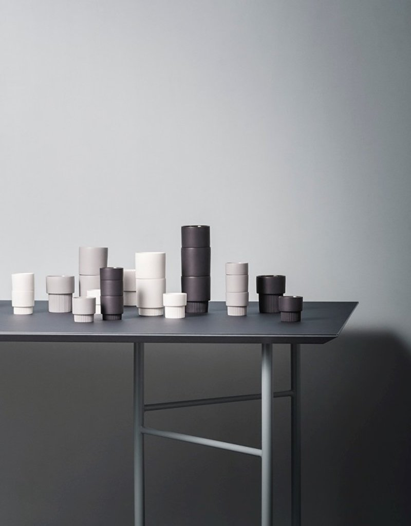 Ferm Living Groove Cups - Grey (Set of 4)