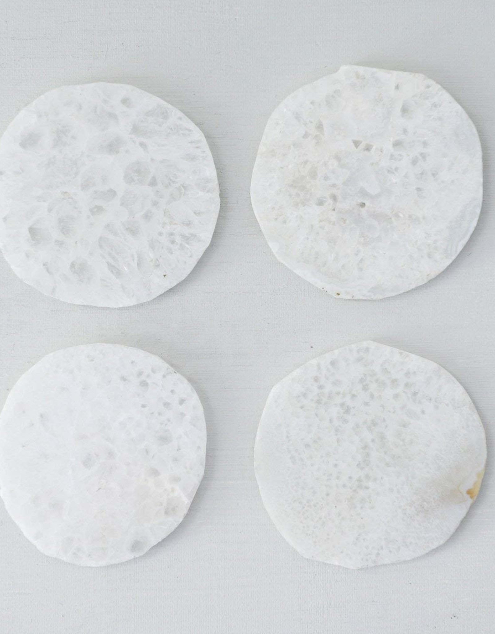 White Quartz Coaster - Set of 4