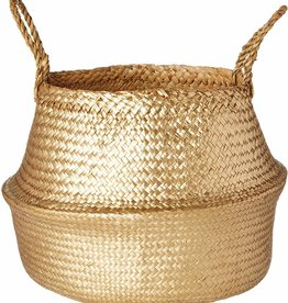 Seagrass Basket - Gold