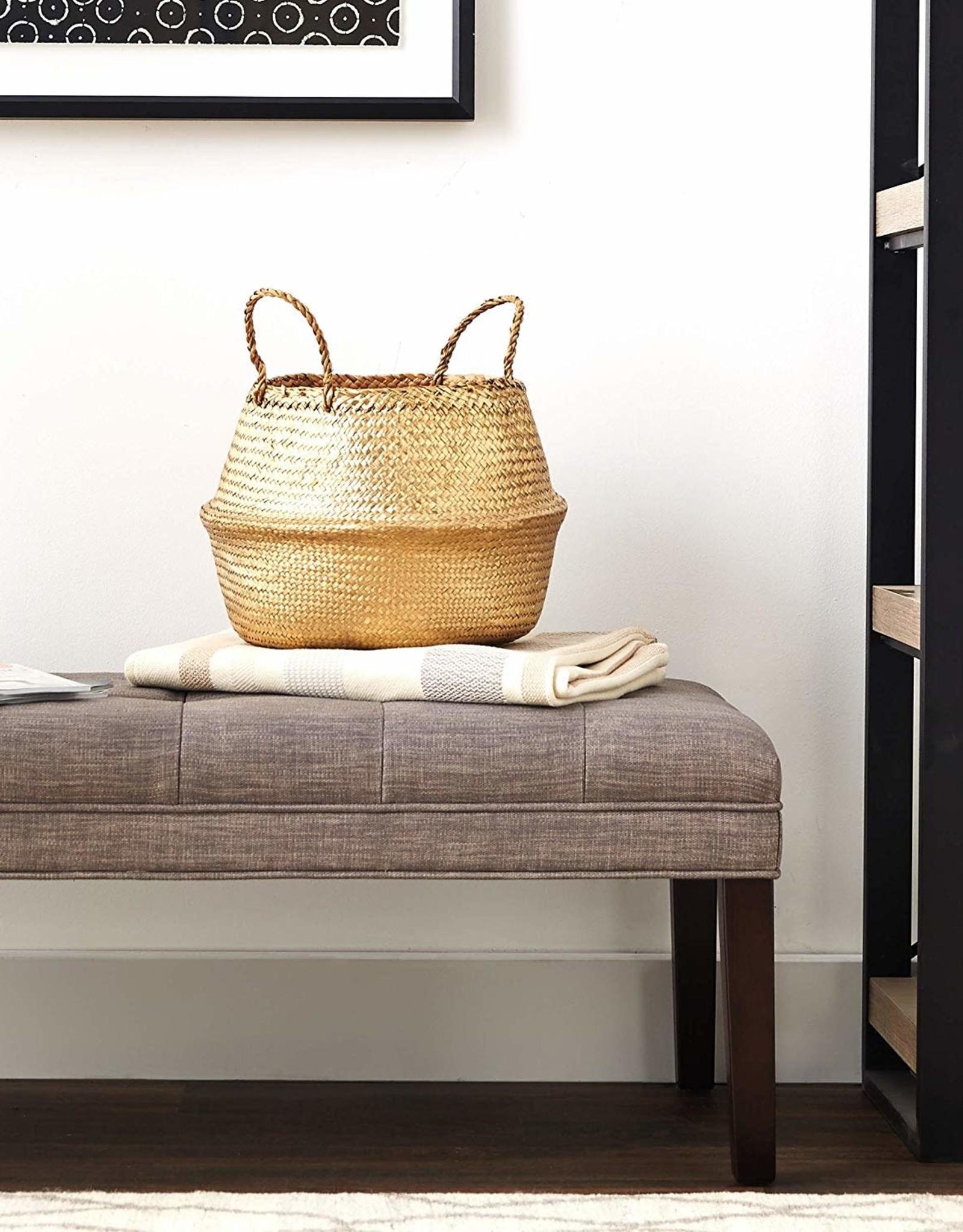 Seagrass Basket - Gold