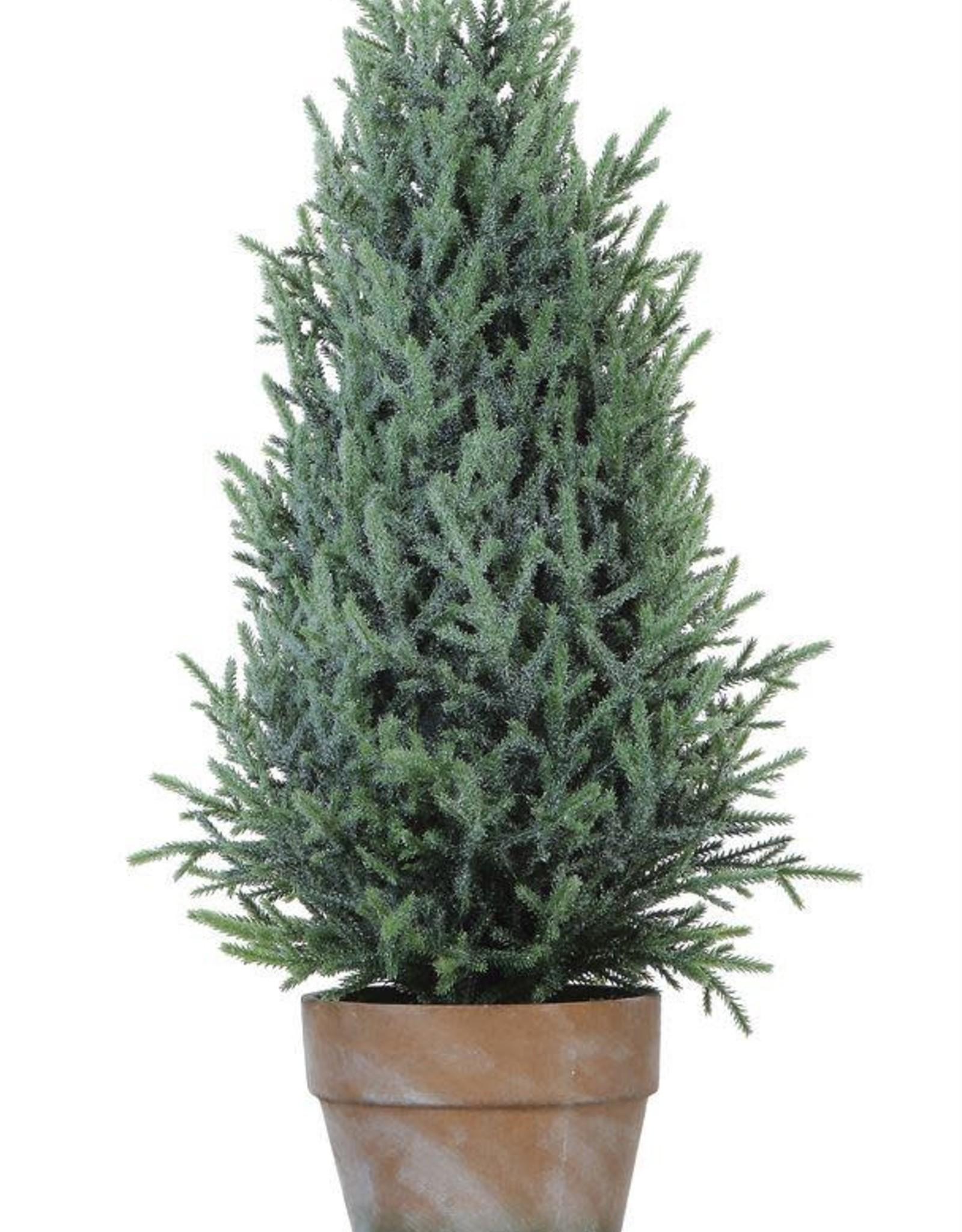 "Faux Pine Tree - 7-3/4"" round"