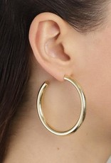 Pilgrim Maddie Gold Plated Hoops - Large
