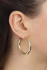 Pilgrim Maddie Gold Plated Hoops - Medium