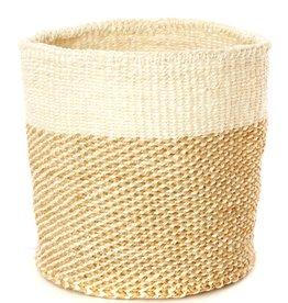 Beige Twill Sisal Basket - Small