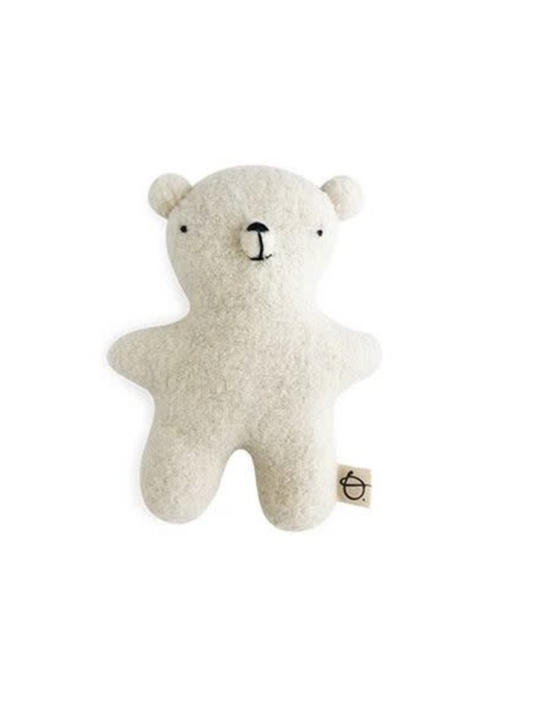 Ouistitine White Wool Teddy Bear