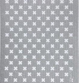 Ten and Co. Sponge Cloth -  Tiny X white on Grey