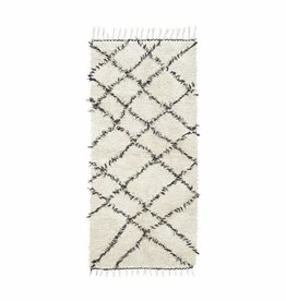 House Doctor Rug Riba - White/Black