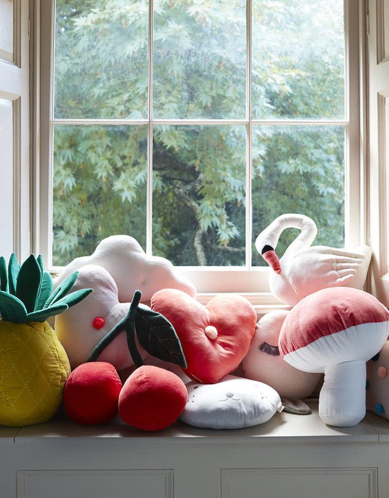 Meri Meri Velvet Cushion - Cherries