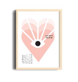 Toffie L'Affichiste Affiche Love Vision - 8''x10''