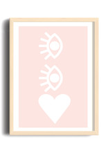 Toffie L'Affichiste Print Eyes on Your Heart - 8''x10''