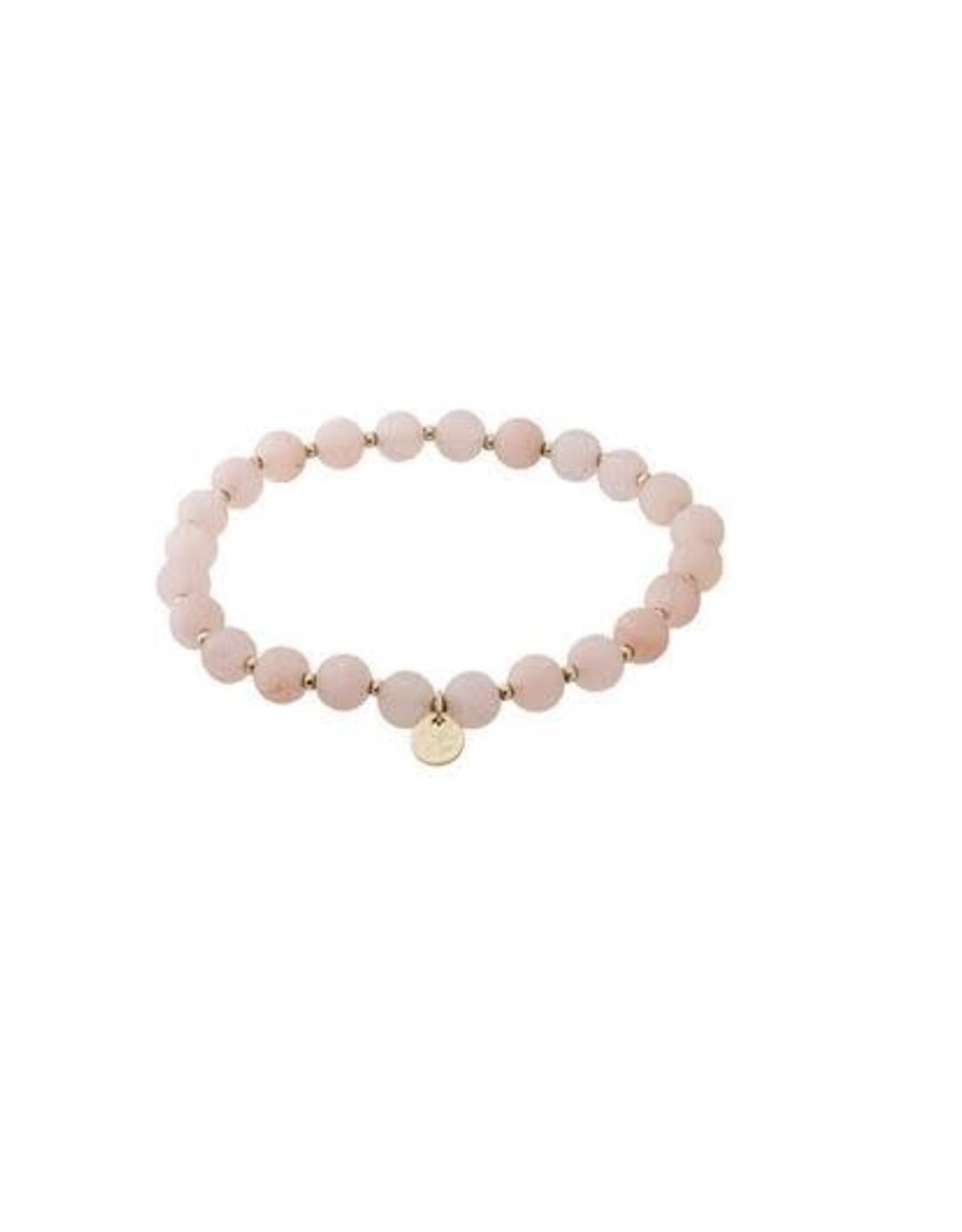 Pilgrim Bracelet Aventurine Rose - Plaqué Or