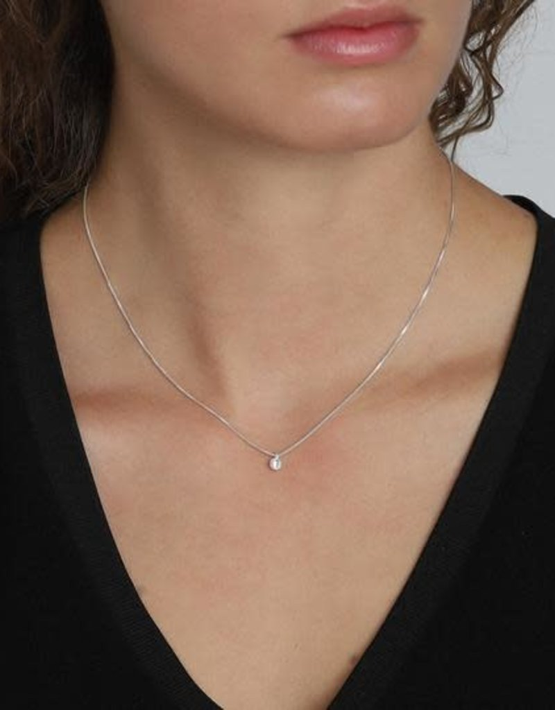Pilgrim Lucia Crystal Necklace -Plated Silver