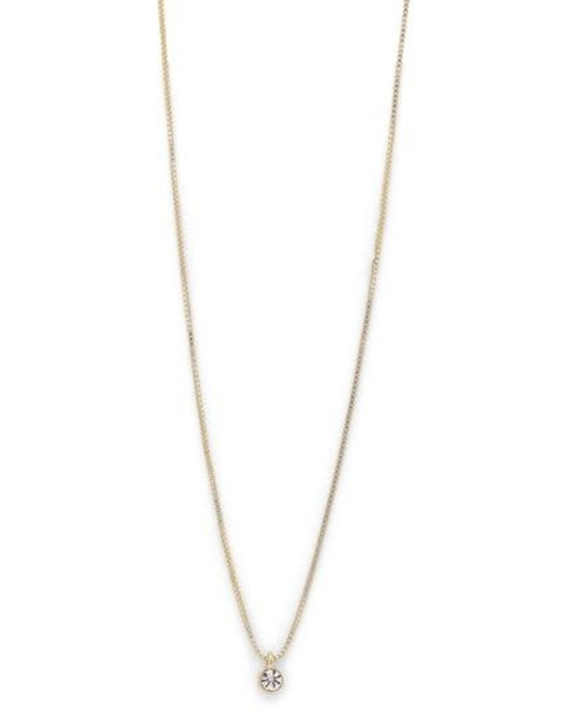 Pilgrim Lucia Crystal Necklace -Plated Gold