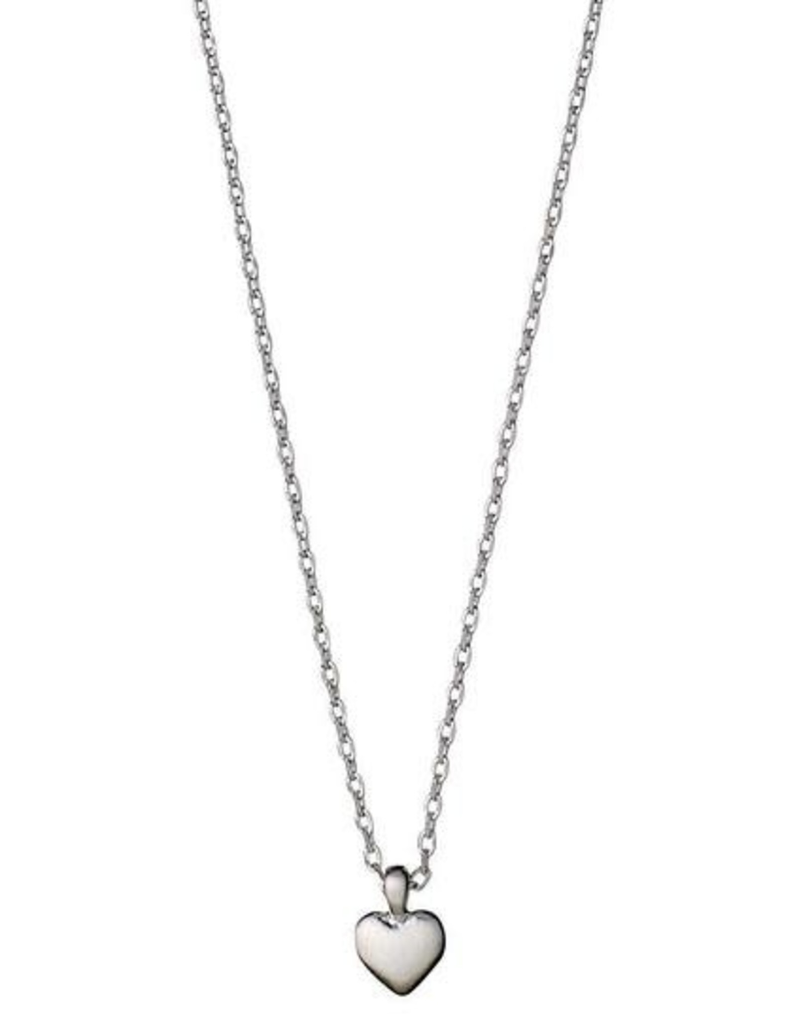 Pilgrim Sophia Heart Necklace -Plated Silver