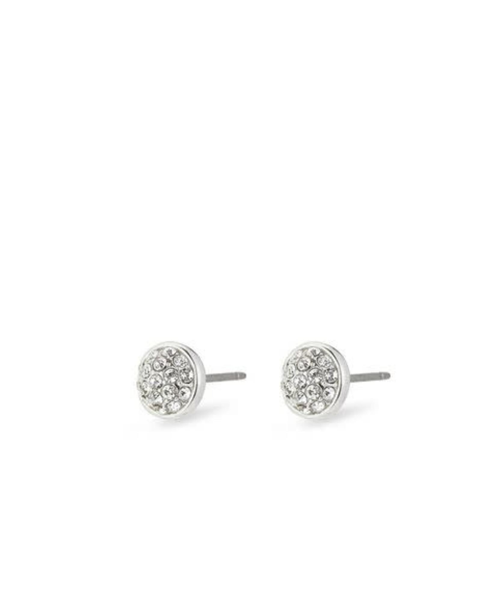 Pilgrim Crystal Earrings Heather - Silver Plated