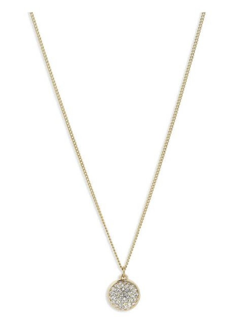 Pilgrim Crystal Sphere Necklace Heather - Gold Plated