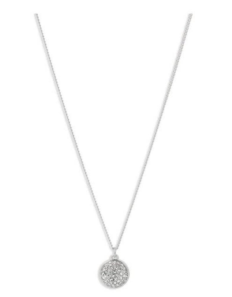 Pilgrim Collier Cristal Sphère Heather - Plaqué Argent