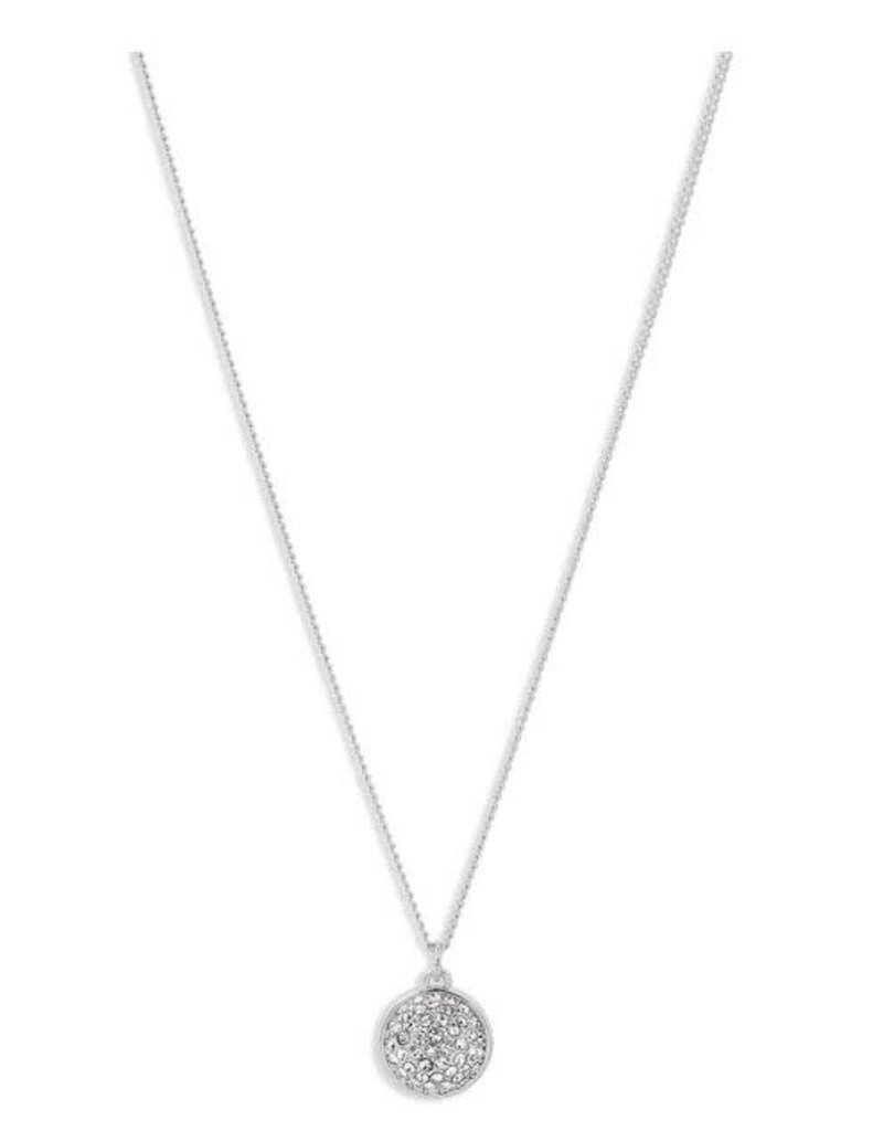 Pilgrim Necklace Heather Crystal Sphere - Silver Plated