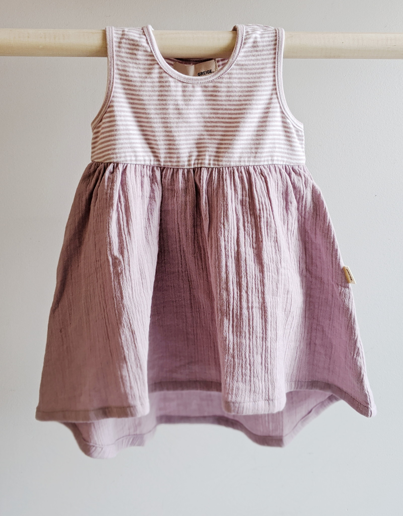 Greige Mixed Dress