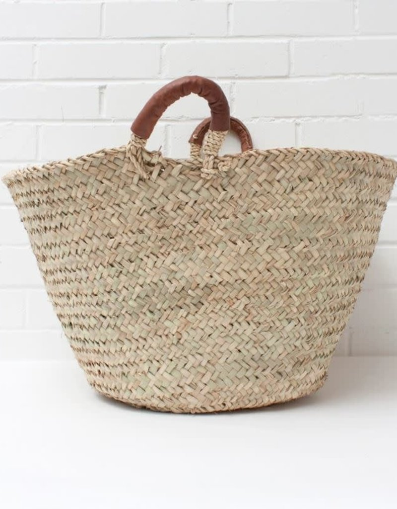 Beldi Leather Baskets, Tan - Medium