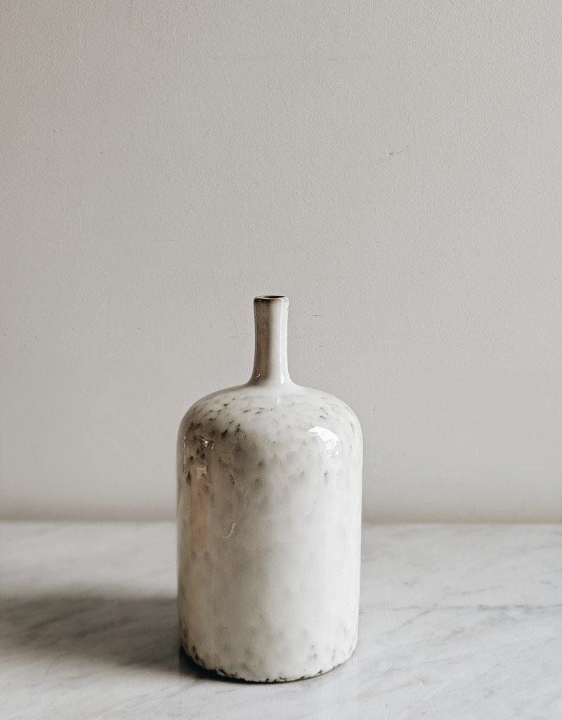 """Vase en Grès - Blanc 5""""X9"""".5"""