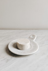 Marble Soap Dish White - Large