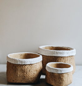 Trim Basket Weave Cement Pot