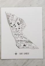 Julia Fabry - Les Imprimés du Quartier Saint-Lambert Map