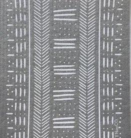 Sponge Cloth Mudcloth Gris - Gray