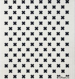 Chiffon Éponge - 'X' Noirs
