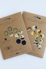 Ten and Co. Emballage de cire d'abeille - Paquet de 3